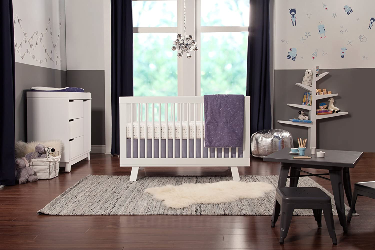 amazoncom  babyletto hudson in convertible crib with toddler  - amazoncom  babyletto hudson in convertible crib with toddler railwhite  baby