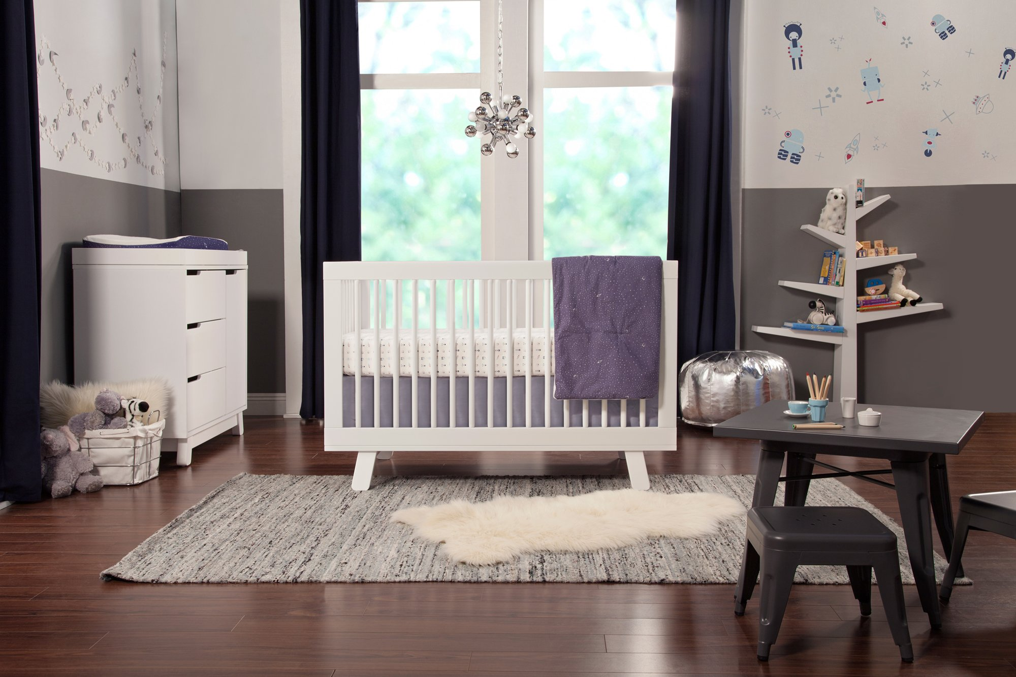 Babyletto Hudson 3-in-1 Convertible Crib with Toddler Bed Conversion Kit, White by babyletto (Image #4)