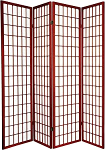 3 - 10 Panel Room Divider Square Design Cherry (4 Panel)
