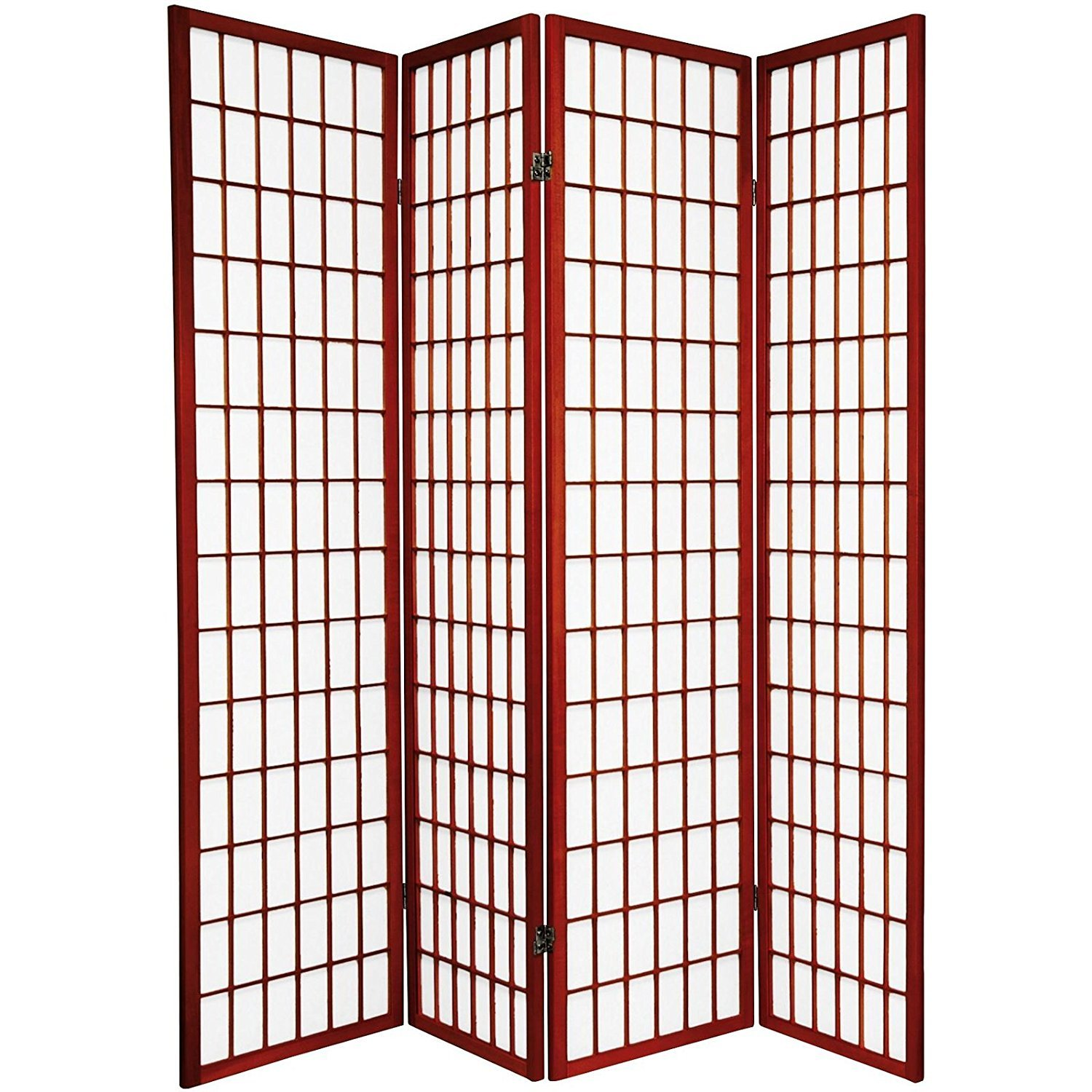 ORE International 4-Panel Room Divider, Cherry by ORE