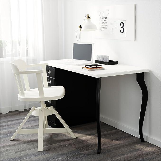 IKEA LALLE patas de mesa de madera maciza – 27,5 cm – Color Negro ...
