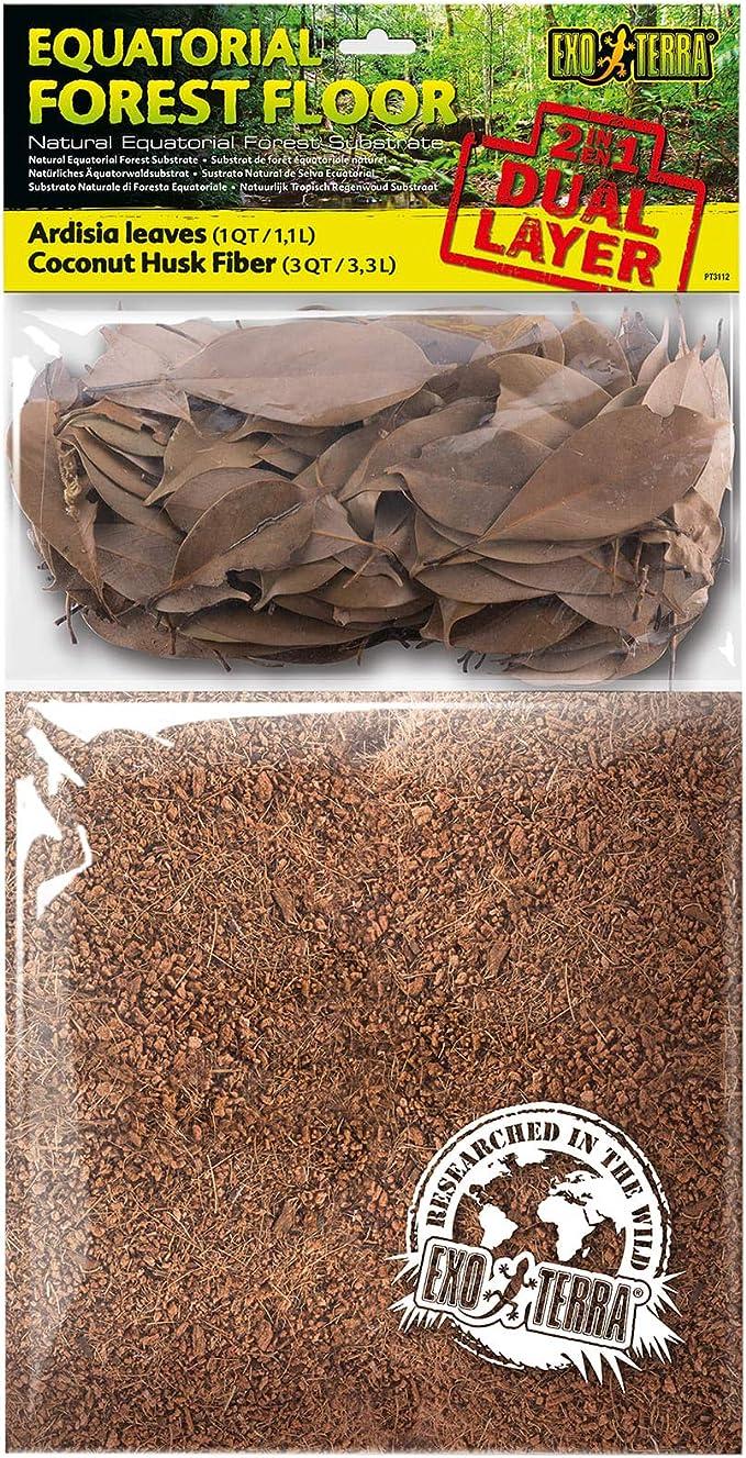 ExoTerra Sustrato de Doble Capa Equatorial Forest Floor -4,4L