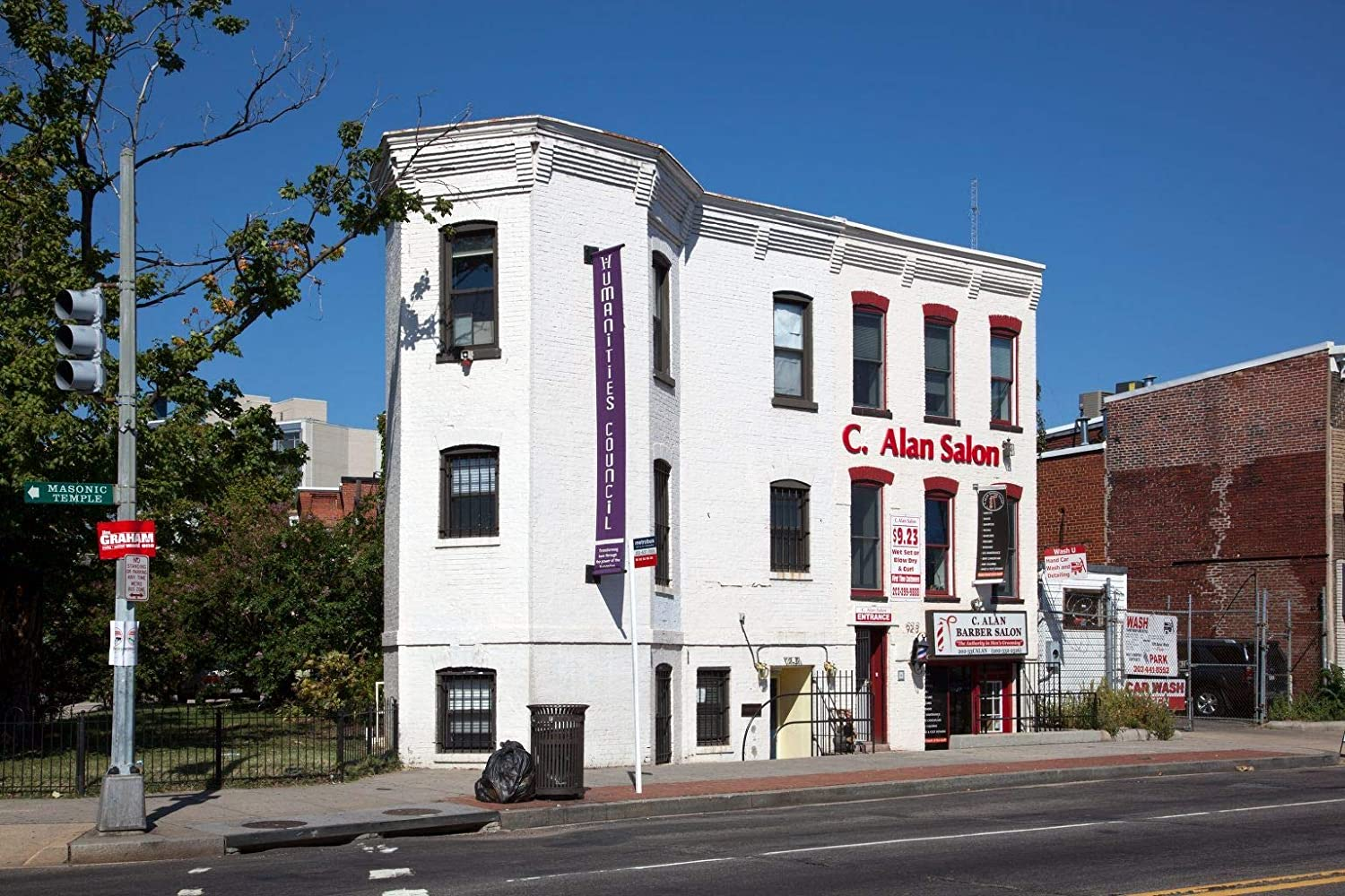Vintography 24 x 36 Giclee Print ofBuilding at The Intersection of U St and Vermont Ave NW Washington D.C. i47 2010 Highsmith