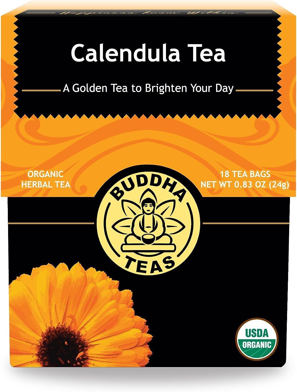 Organic Calendula Flower Tea 18 Bag Count