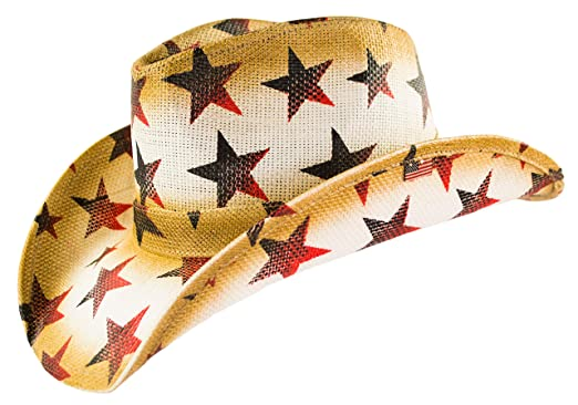 416c0884531 American Patriotic Western Straw Cowboy Hat