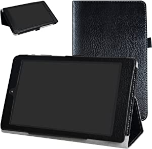 "DigiLand DL8006 Case,Mama Mouth PU Leather Folio 2-Folding Stand Cover for 8.0"" DigiLand DL8006 Android Tablet,Black"