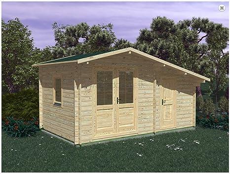 Mondocasette casa caseta de Madera de jardín – Modelo Deco Grosor Paredes 45 mm 5 x