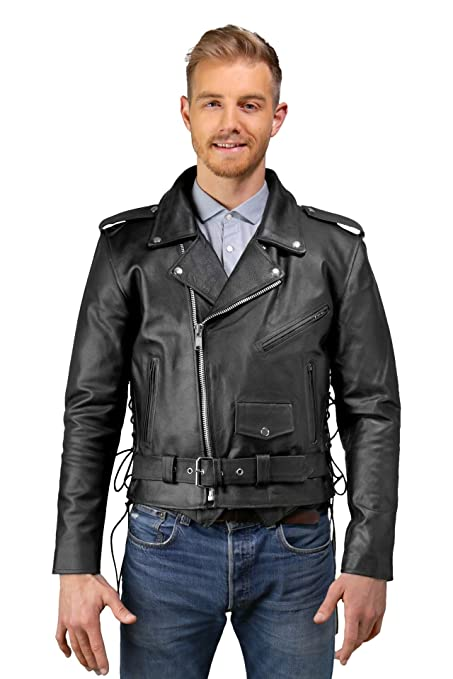 1f0c9f80889 Amazon.com  Mens Leather Motorcycle Jacket
