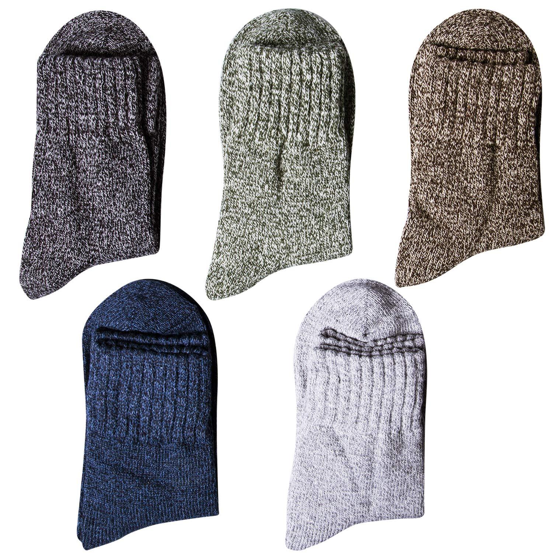 Amazon.com: Loritta 5 pares de calcetines gruesos de lana ...