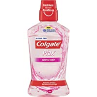 Colgate Plax Antibacterial Alcohol Free Bad Breath Control Mouthwash Gentle Mint 500mL