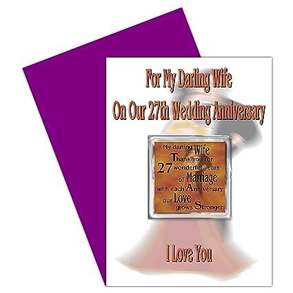 27 Anniversario Di Matrimonio.Moglie 27th Regalo Per Il Anniversario Di Matrimonio Con Magnete