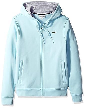 78c11b510116 Amazon.com  Lacoste Men s Sport Long Sleeve Fleece Full Zip Hoodie  Clothing