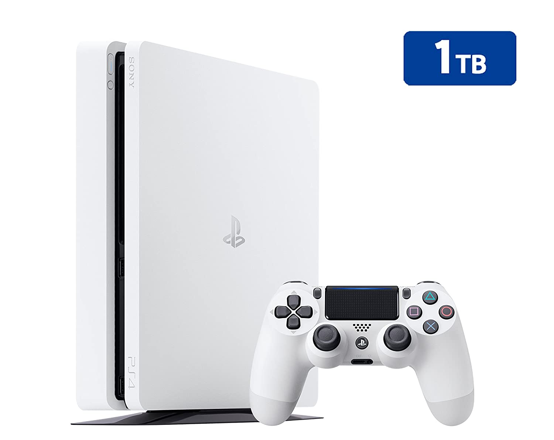 PS4 Slim 1Tb Blanca Playstation 4 - Consola 1TB, Blanca ...