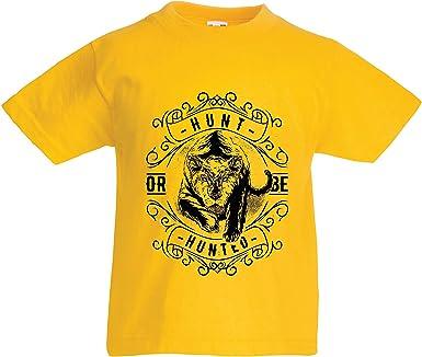 lepni.me Camiseta para Niño/Niña Cazar o ser cazado, Refranes inspiradores sobre la Vida, Citas de motivación para el éxito: Amazon.es: Ropa y accesorios