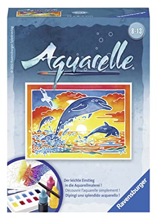 Ravensburger Spielende Delfine Aquarelle Malen Mini Amazon De