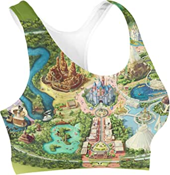 Rainbow Rules Disneyland Colorful Map Sports Bra