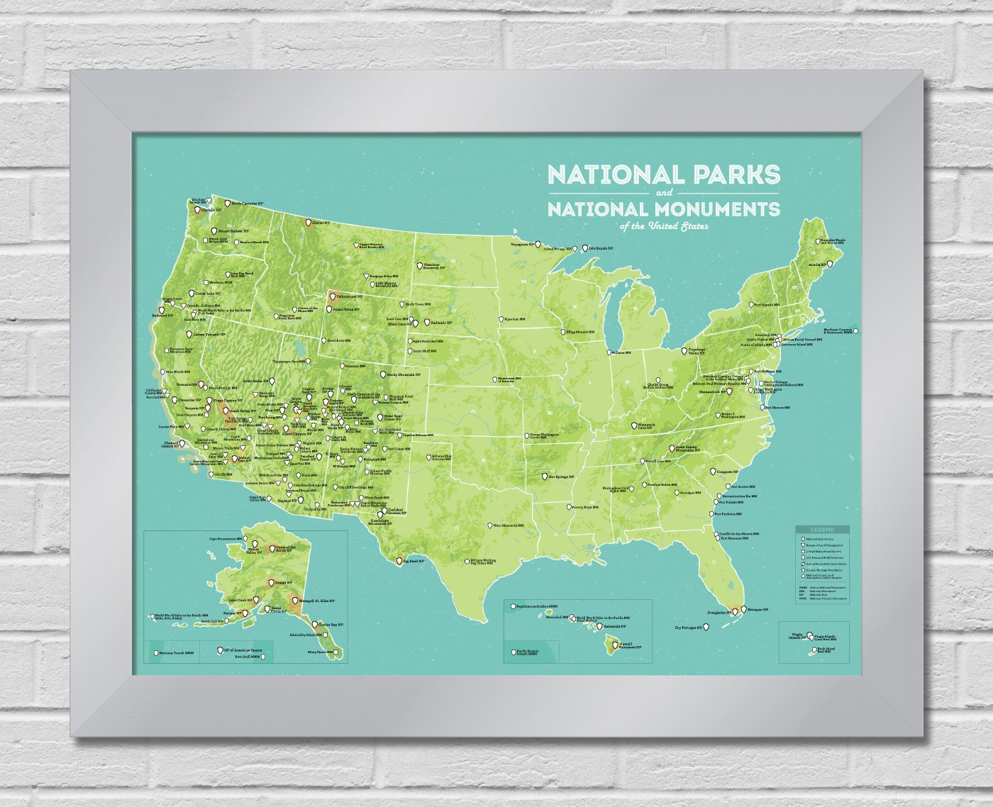 Amazon.com: Best Maps Ever US National Parks & Monuments Map Premium ...