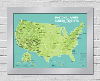 Amazon.com: Best Maps Ever US National Parks & Monuments Map Premium ...