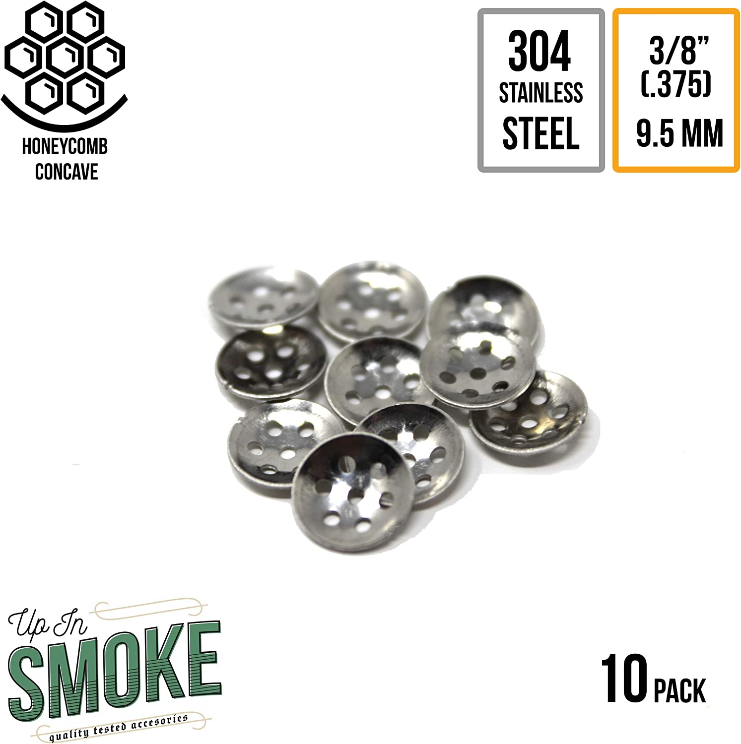 """12 Stainless Steel highest quality! 3//8/"""" Tobacco Pipe Screen filters count"""