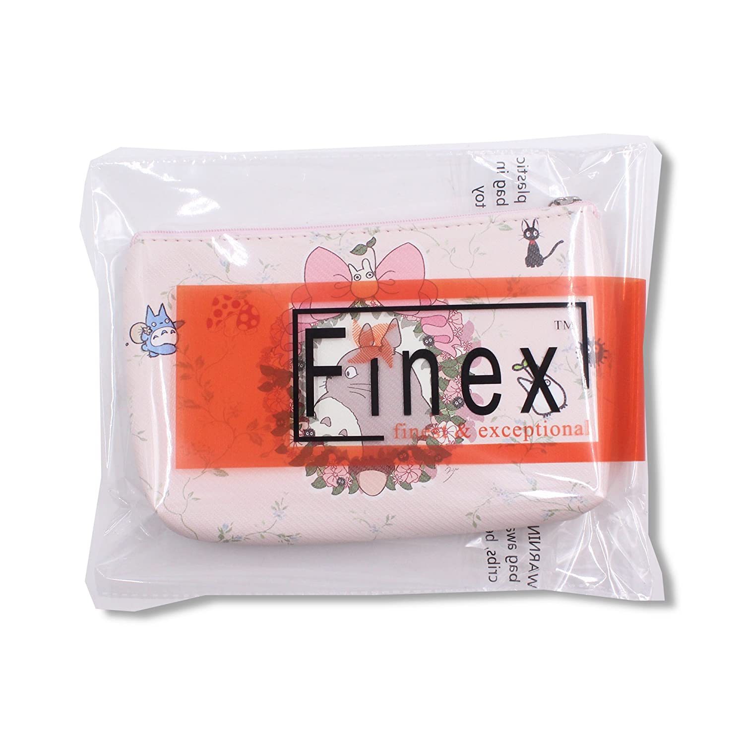 599dee19fe60 Finex My Neighbor TOTORO Pink Bow Wreath Cosmetic Makeup Bag Pencil Case  Pouch