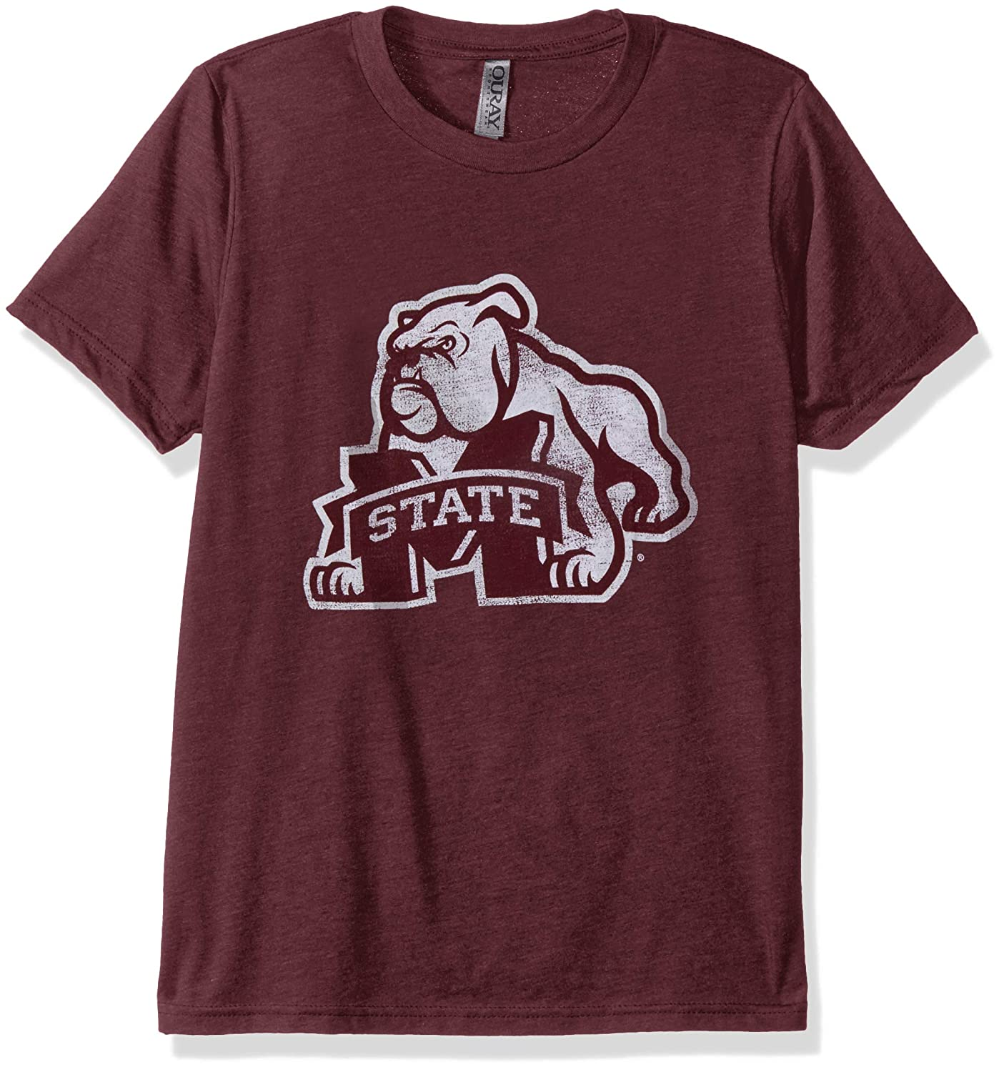 X-Large NCAA Mississippi State Bulldogs Mens Tri Blend Short Sleeve Tee Maroon