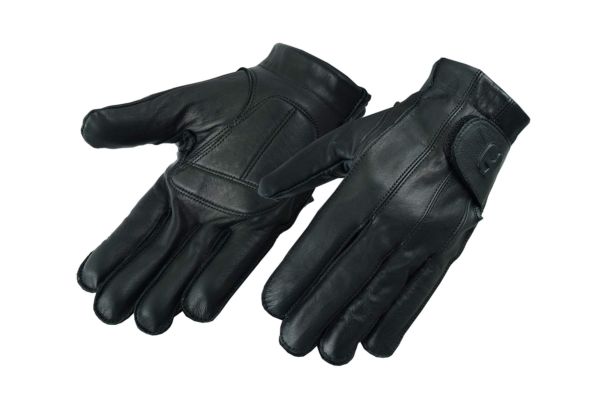 Deer Soft Gel-Padded Palm Fingerless and Full Finger Styles Motorcycle Riding Gloves (XX-Large-Full Finger) by Hugger Glove Company