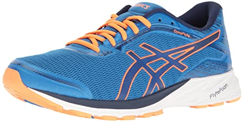 asics dynaflyte mens shoes electric blue/blue/orange