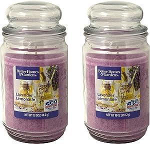 Better Homes Gardens 18oz Scented Candle, Lavender Lemonade 2-Pack