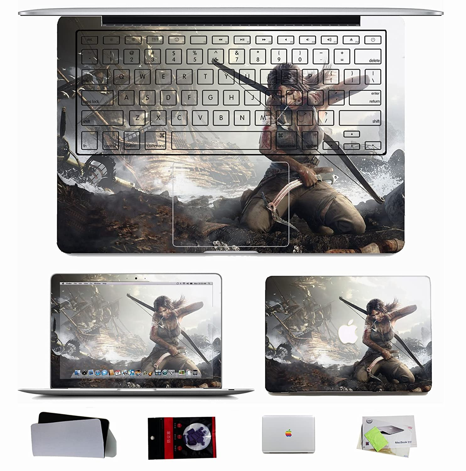 10 pcs sticker decal for apple macbook pro air 11 13 15 inch