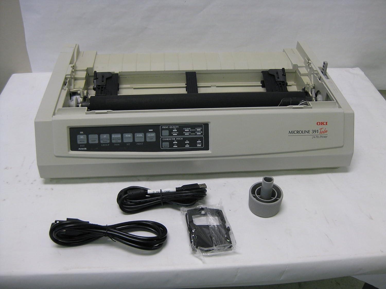 Okidata 62412001 OKI Microline 391 Turbo - Printer - monochrome - dot-matrix - 360 dpi - 24 pin - up to 390 char/sec - parallel, USB