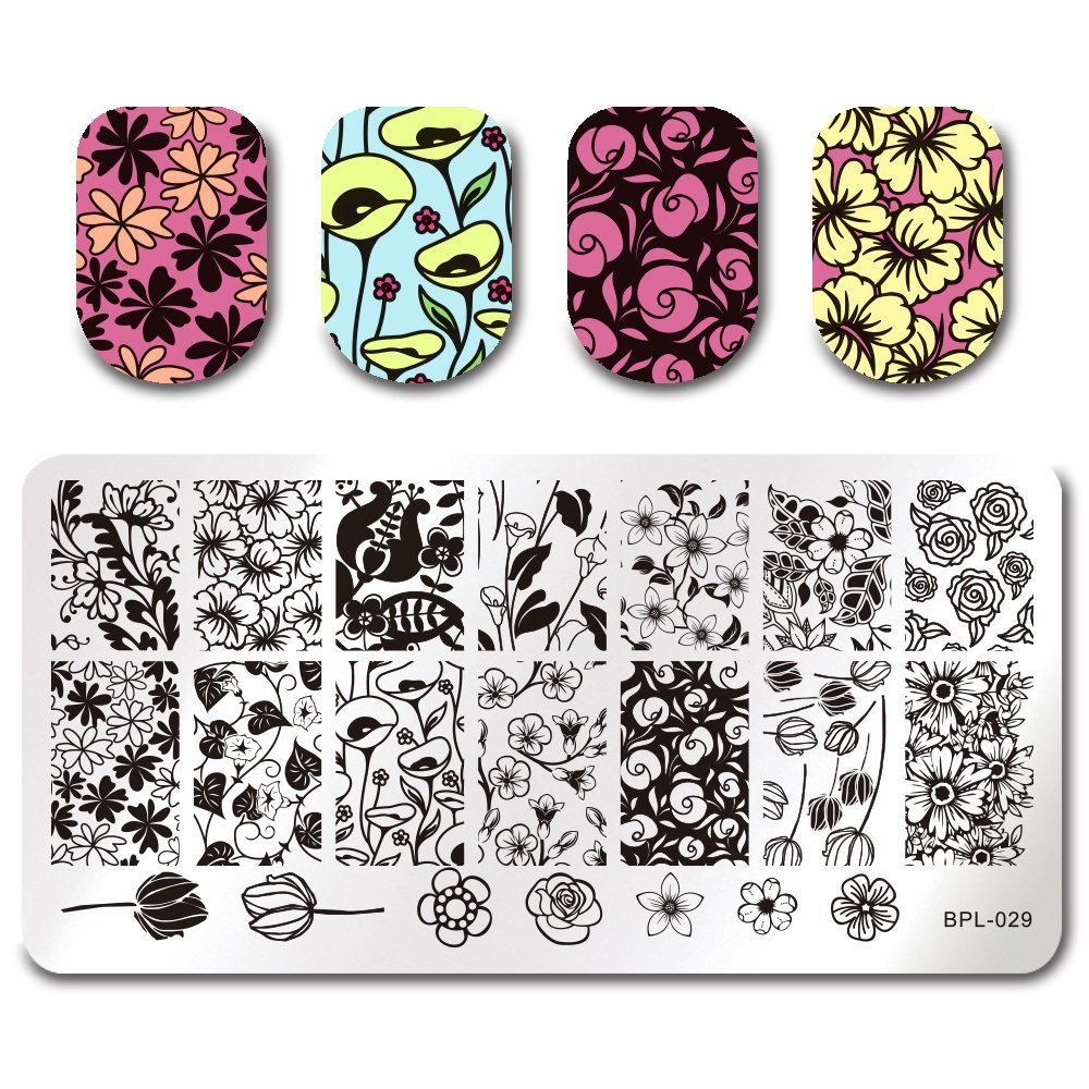 BORN PRETTY Rectangle Stamping Plate Manicure Nail Art Image Plate