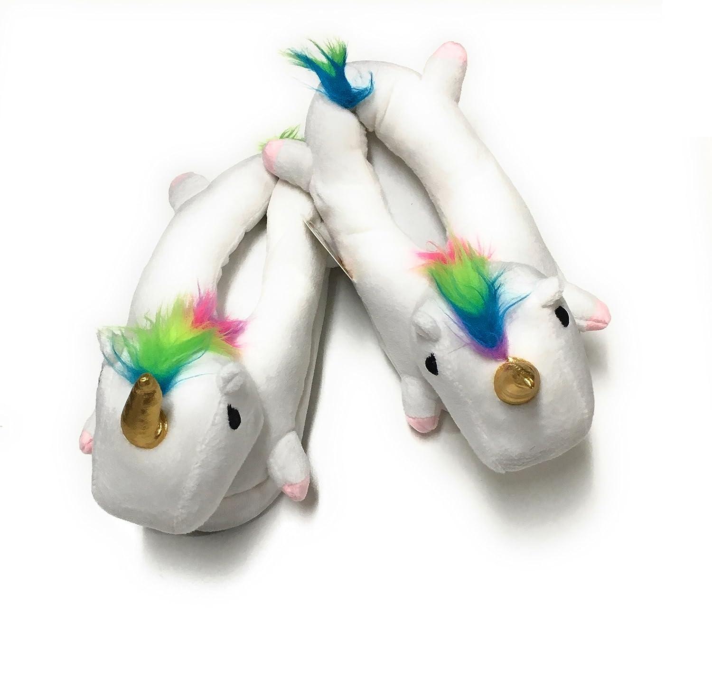 Plush Unicorn slippers girls Hapros