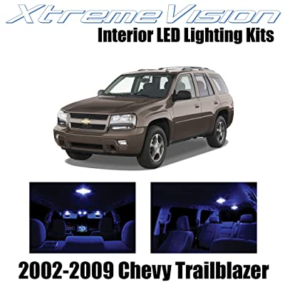 Xtremevision Interior LED for Chevy Trailblazer 2002-2009 (16 Pieces) Blue Interior LED Kit + Installation Tool: Automotive