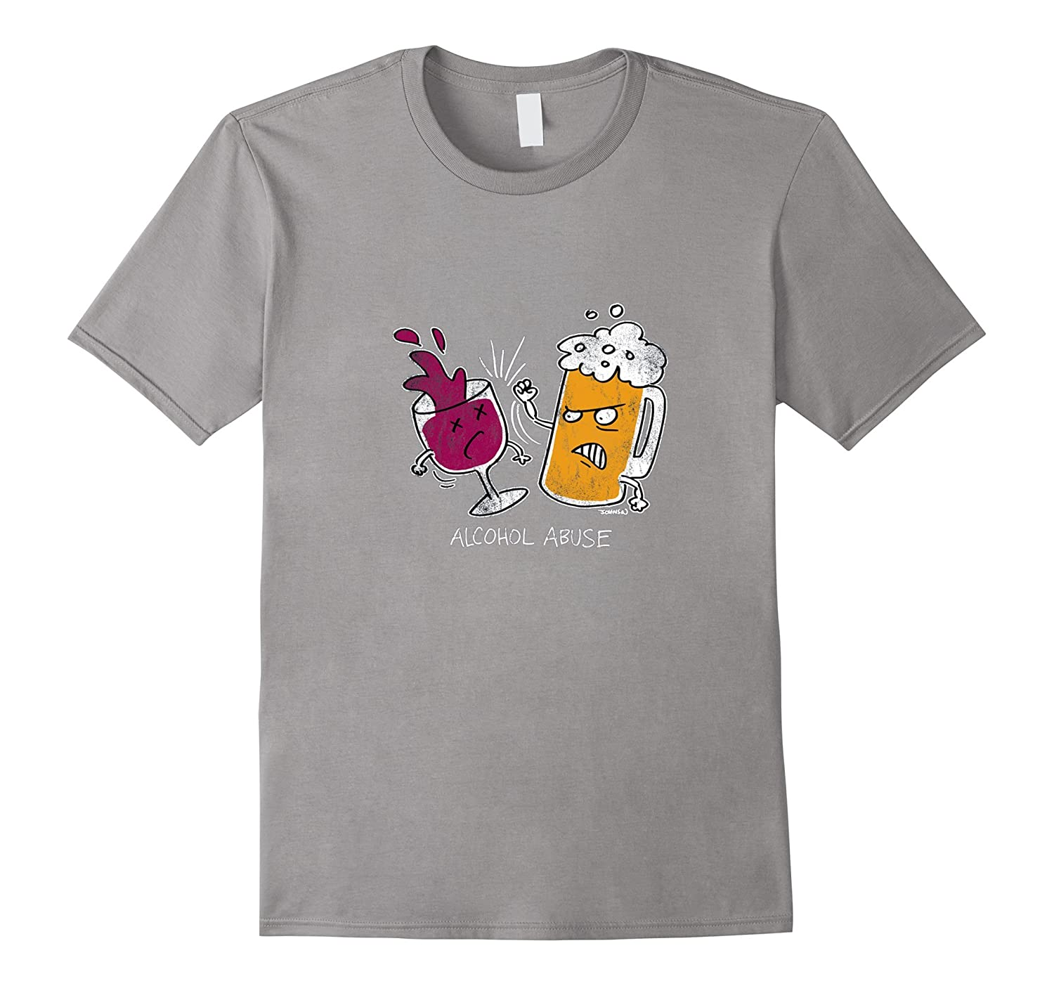 Alcohol Abuse Beer Wine Funny Shirt-Art