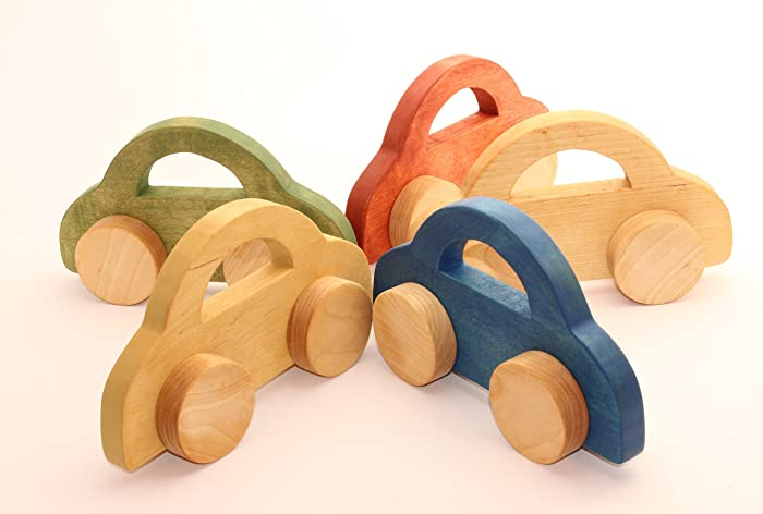 8 9 Toys For Birthdays : Amazon.com: wooden toy car 8 2 x 4 9 in large car big wooden