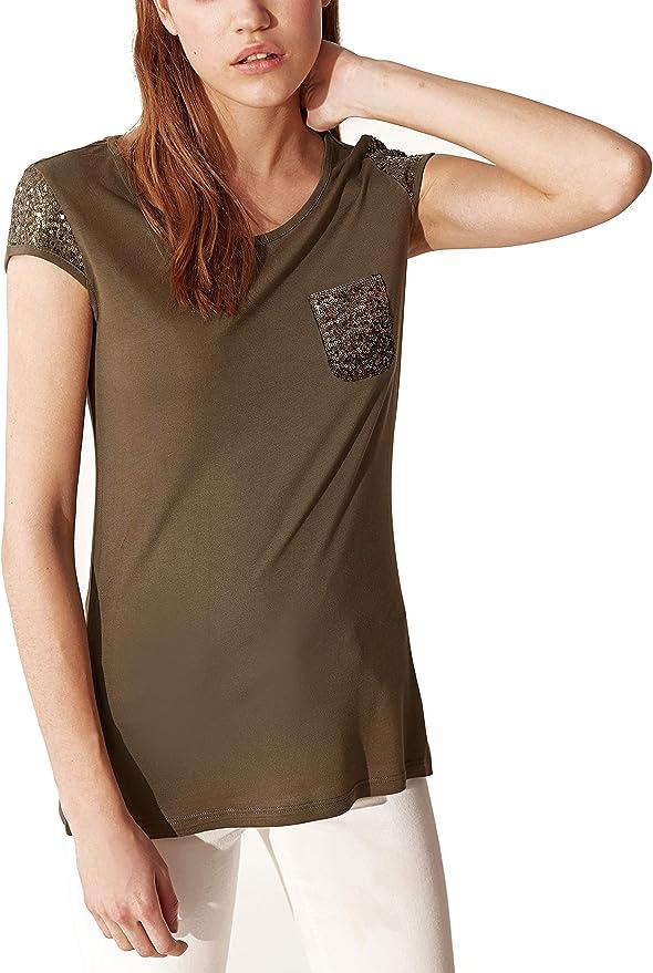 LC WAIKI Maglietta da ragazza con paillettes ricamate