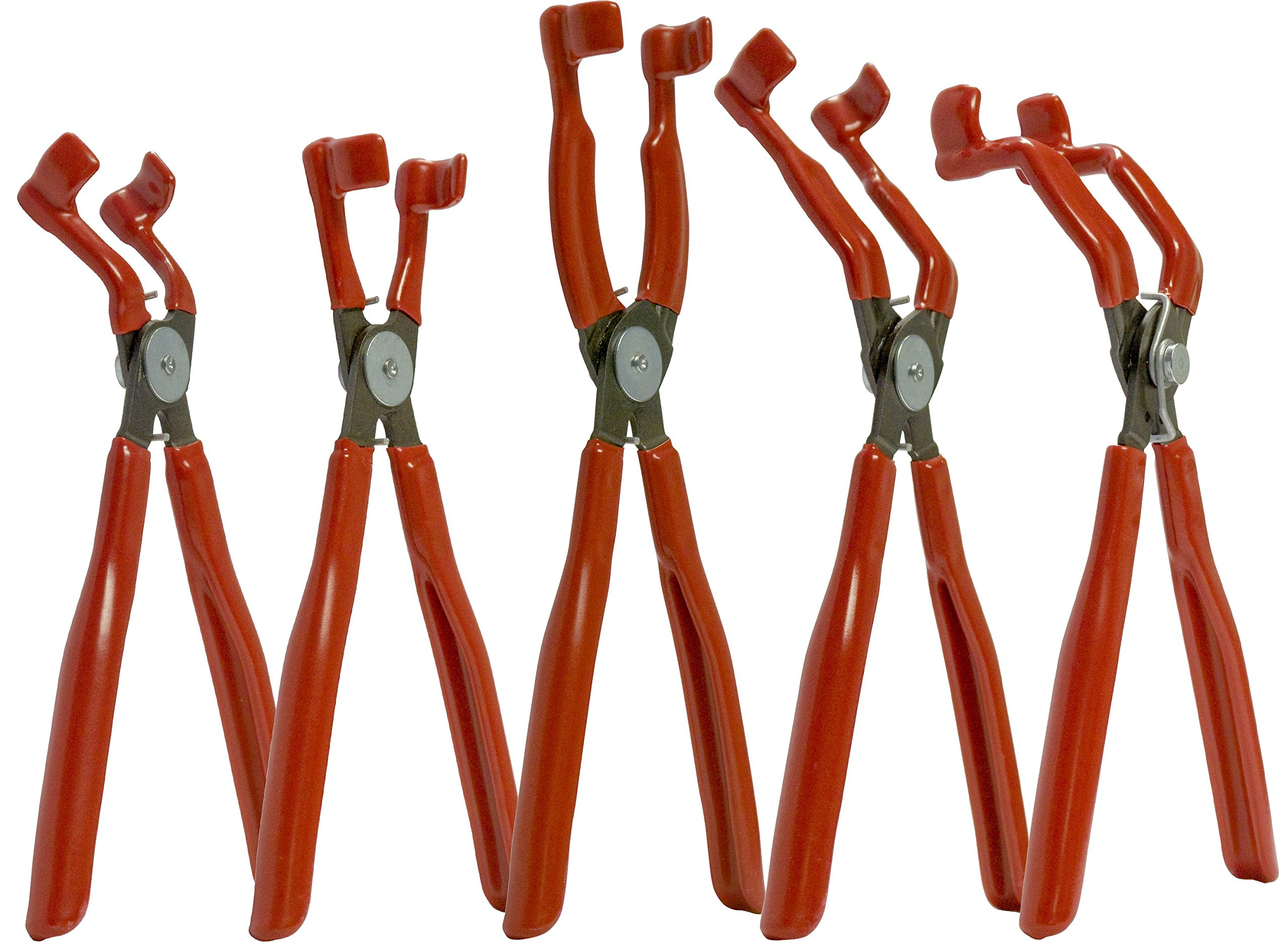 MAG-MATE PLS100S Spark Plug Boot Pliers Set (5 Piece), Red by Mag-Mate