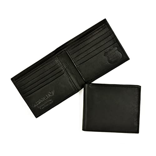 RFID Blocking Wallet for Men | Made with #1 Grade Napa Genuine Leather | Finest Genuine Leather | Excellent Credit Card Protector | Stop Electronic Pick Pocketing | Lined Currency Compartment | 10 Credit Card Pockets | Keeps Your Identity Safe | Blocks Electronic Pick Pocketing [RFID5728-07-01]