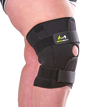 3d52bae734 BraceAbility 5XL Plus Size Knee Brace | Bariatric Hinged Knee Wrap for Big  & Wide Thighs