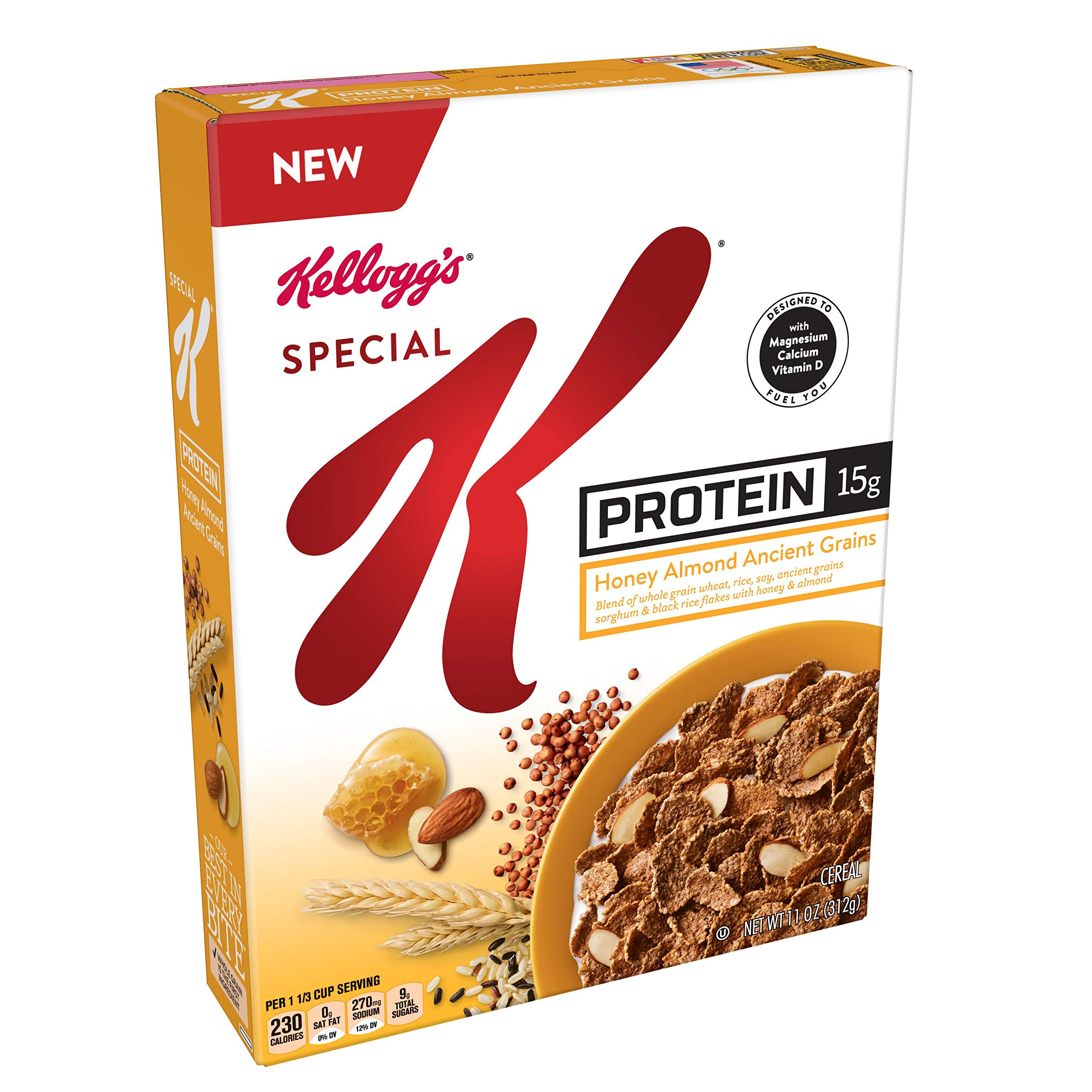 Special K Honey Almond Ancient Grains Breakfast Cereal, 11 OZ(Pack of 10)
