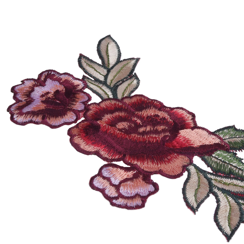 4 Piezas Parches Bordado Parches de Flor Parche Termoadhesivo de Costura Apliques Decorativo para Vestido Sombrero Zapatos Vaqueros (2 Tamaños): Amazon.es: ...