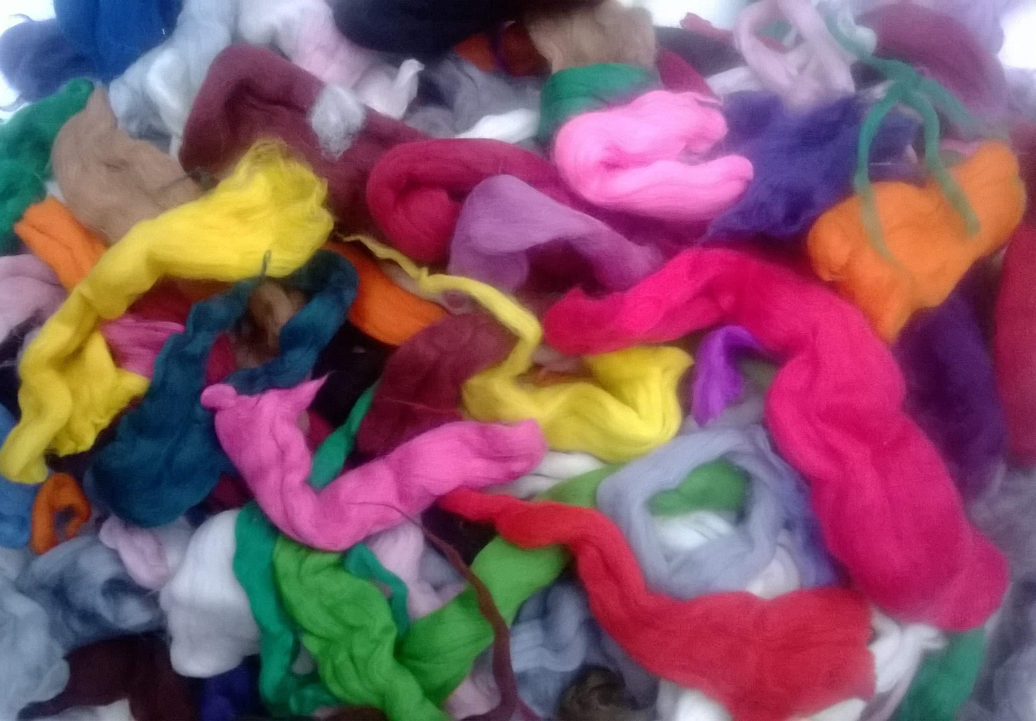 Heidifeathers Big Bag of Wool of Cuts/Wool Scraps - Merino, Natural (10.5oz) (Mixed, 10.5oz (Large))