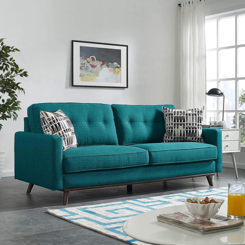 Amazon.com: Modway EEI-3046-TEA Prompt - Sofá tapizado de ...