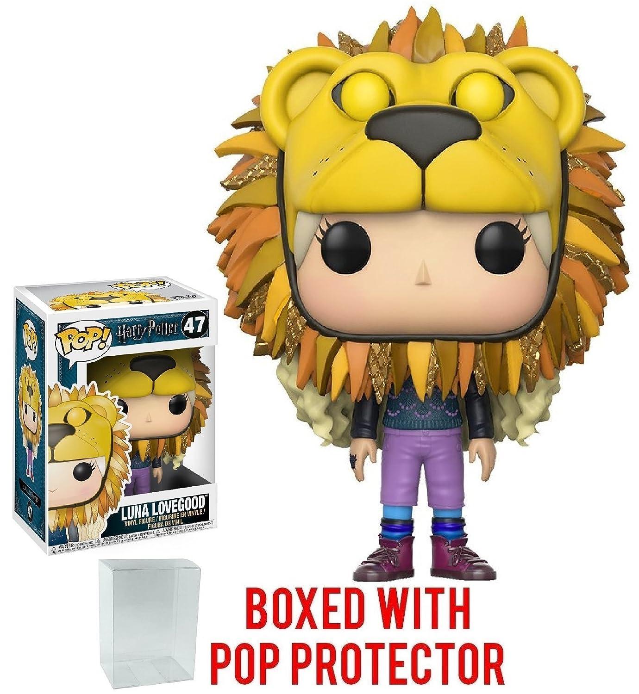 Includes Compatible Pop Box Protector Case Luna Lovegood with Lion Head Funko Pop HARRY POTTER Vinyl Figure