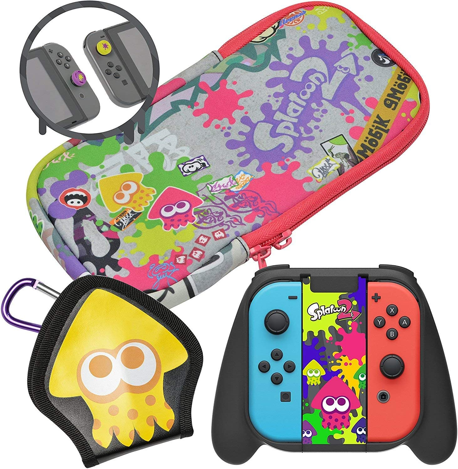 Amazon.com: HORI Splatoon 2 Deluxe Splat Pack with Squid ...