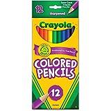 Crayola Long Barrel Colored Wood-case Pencils, Assorted Colors, (68-4012), 12 pencils per pack - 6 pack