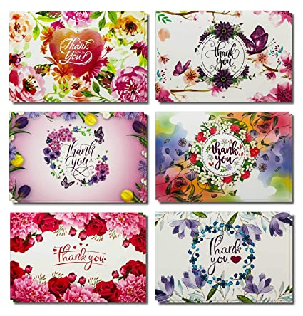 54 Floral Thank You Cards