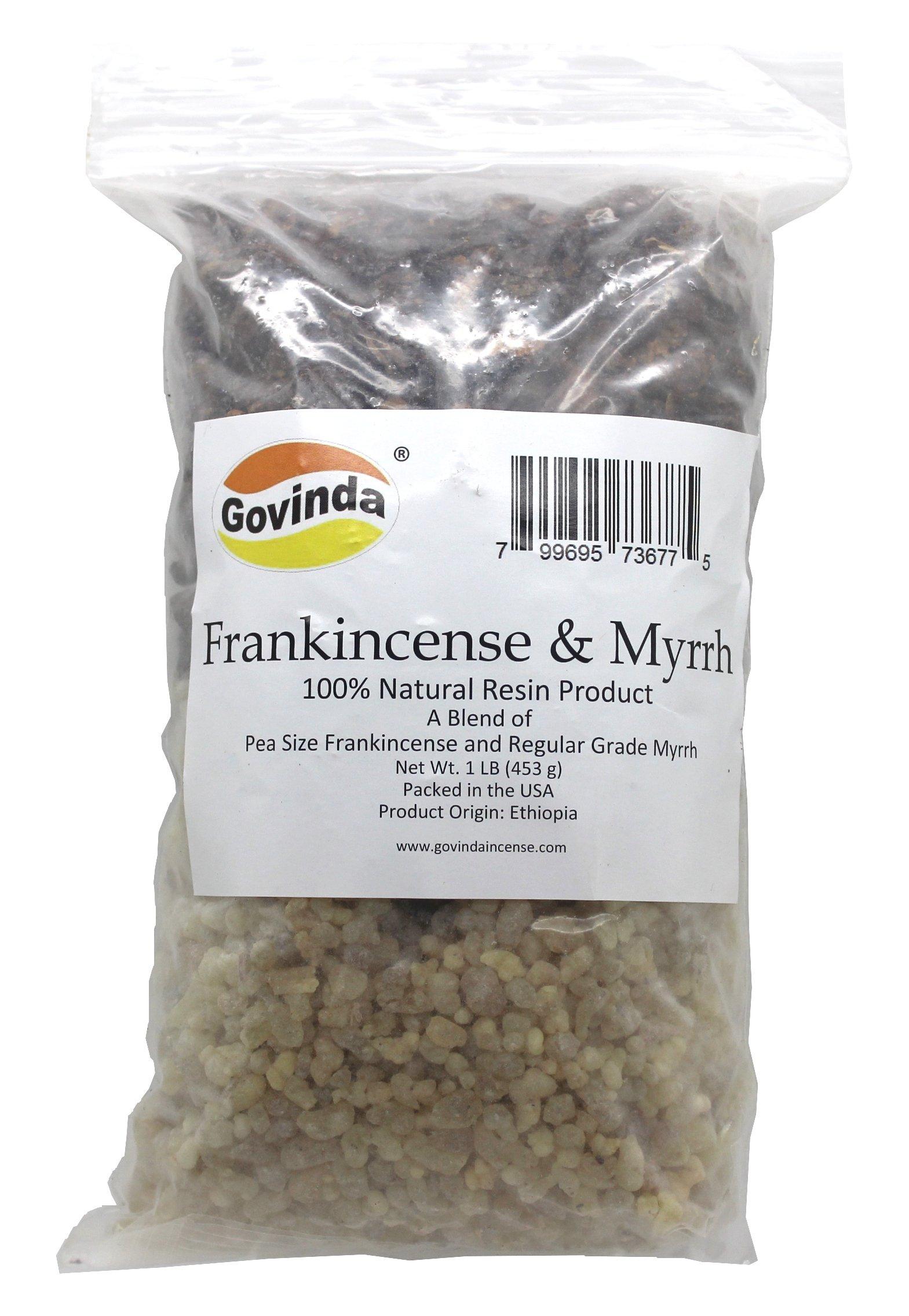 Govinda Natural Frankincense & Myrrh Resin Regular Grade - 1 Pound by Govinda