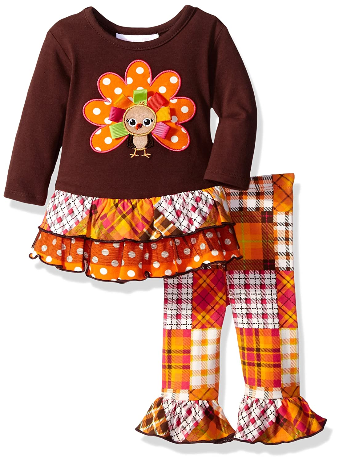 0a1789cd62197 Amazon.com: Bonnie Baby Baby Girls' Thanksgiving Dresses and Legging Set:  Clothing