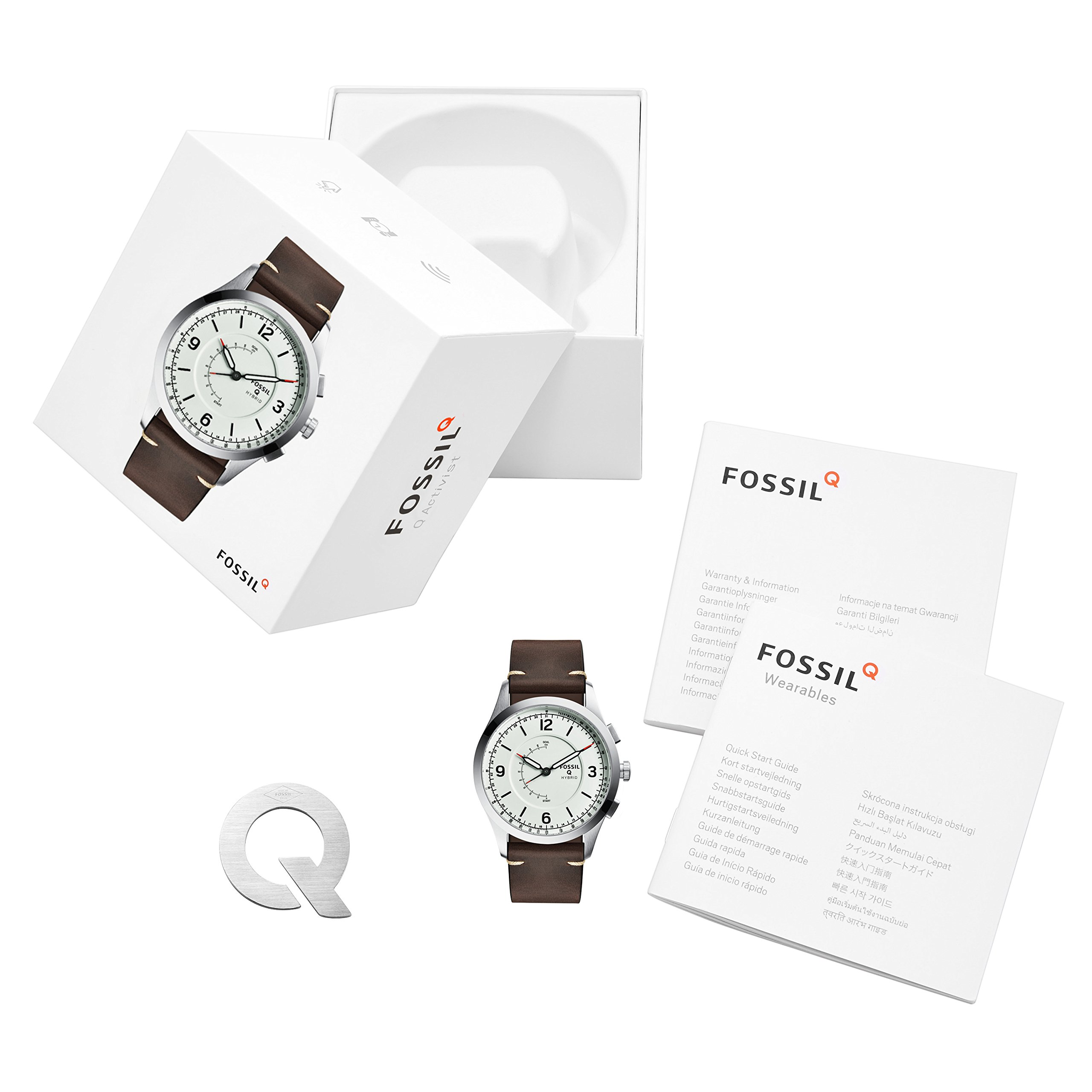 Fossil Hybrid Smartwatch - Q Activist Brown Leather FTW1204 by Fossil (Image #4)
